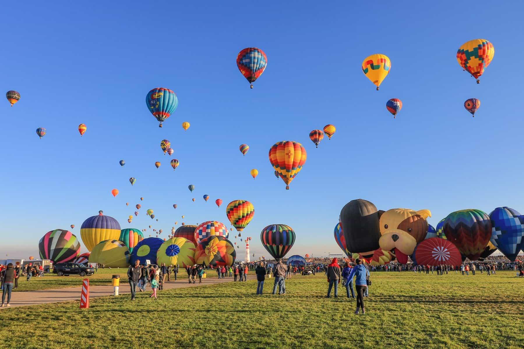 Hot Air Balloons Blue Sky Lamp Shade